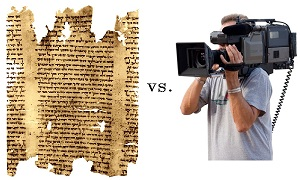 Isaiah Scroll vs Camera small
